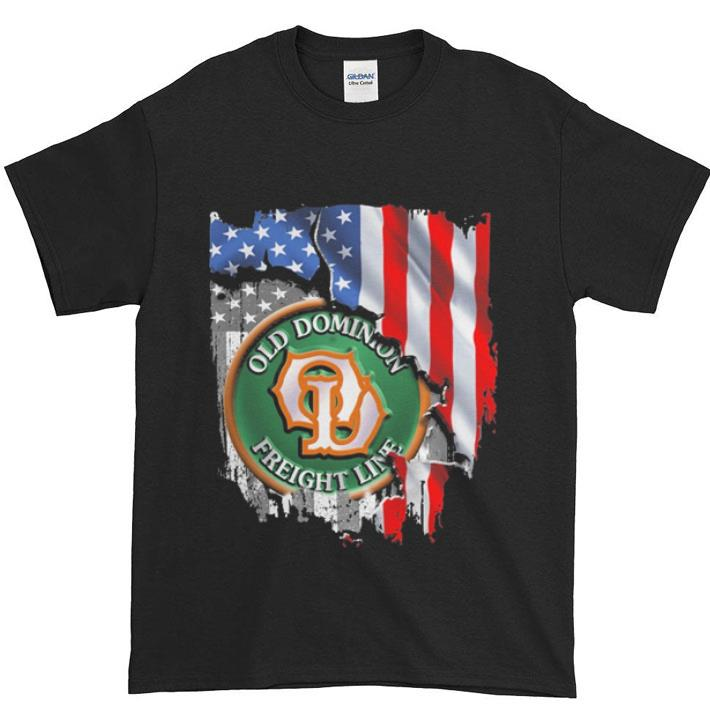 Nice Old dominion freight line american flag shirt