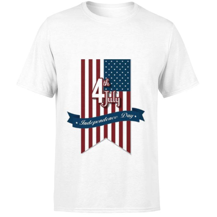 Nice USA flag Happy 4th of july independence day shirt