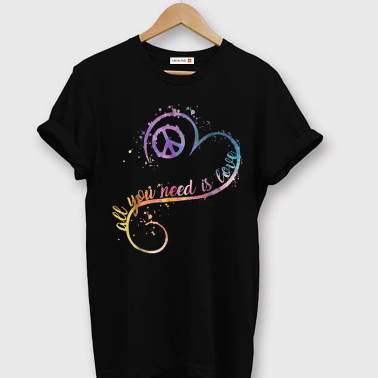 Official All You Need Is Love Heart Shape Watercolor shirt