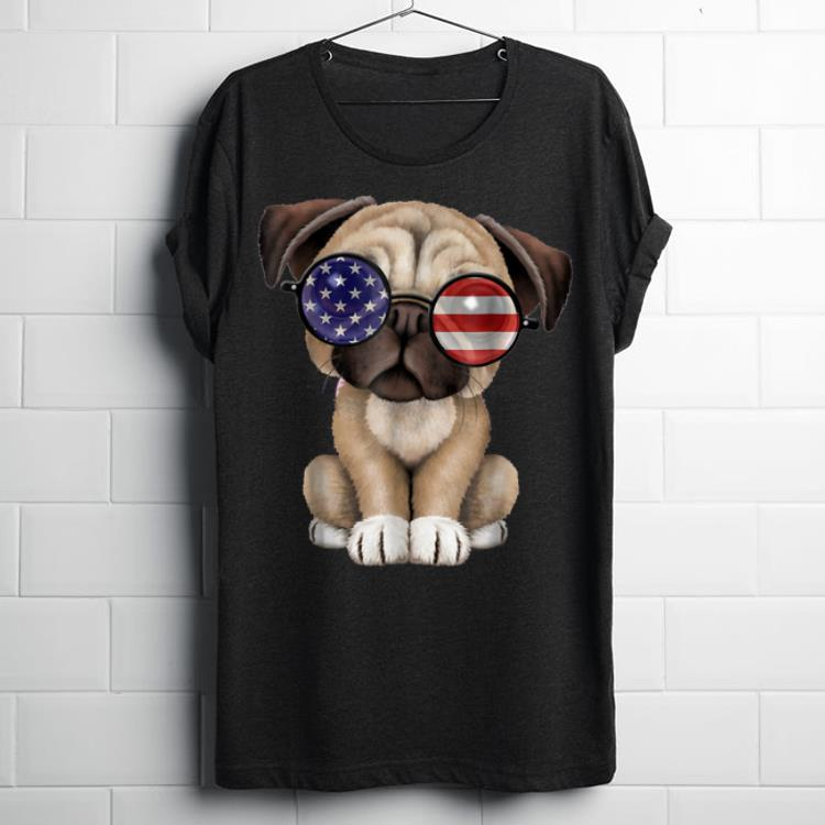 Official Cute Pug Dog Independence Day Fourth Of July shirt