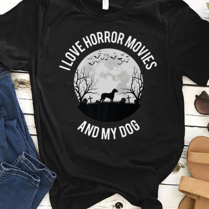 Official I Love Horror Movies And My Dog shirt