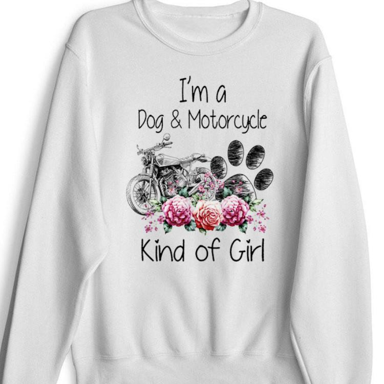 Official Im A Dog And Motorcycle Kind Of Girl Flower shirt