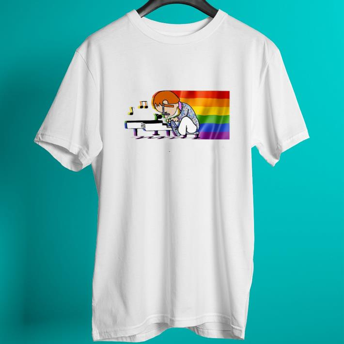 Official LGBT Elton John and piano Rocketman shirt