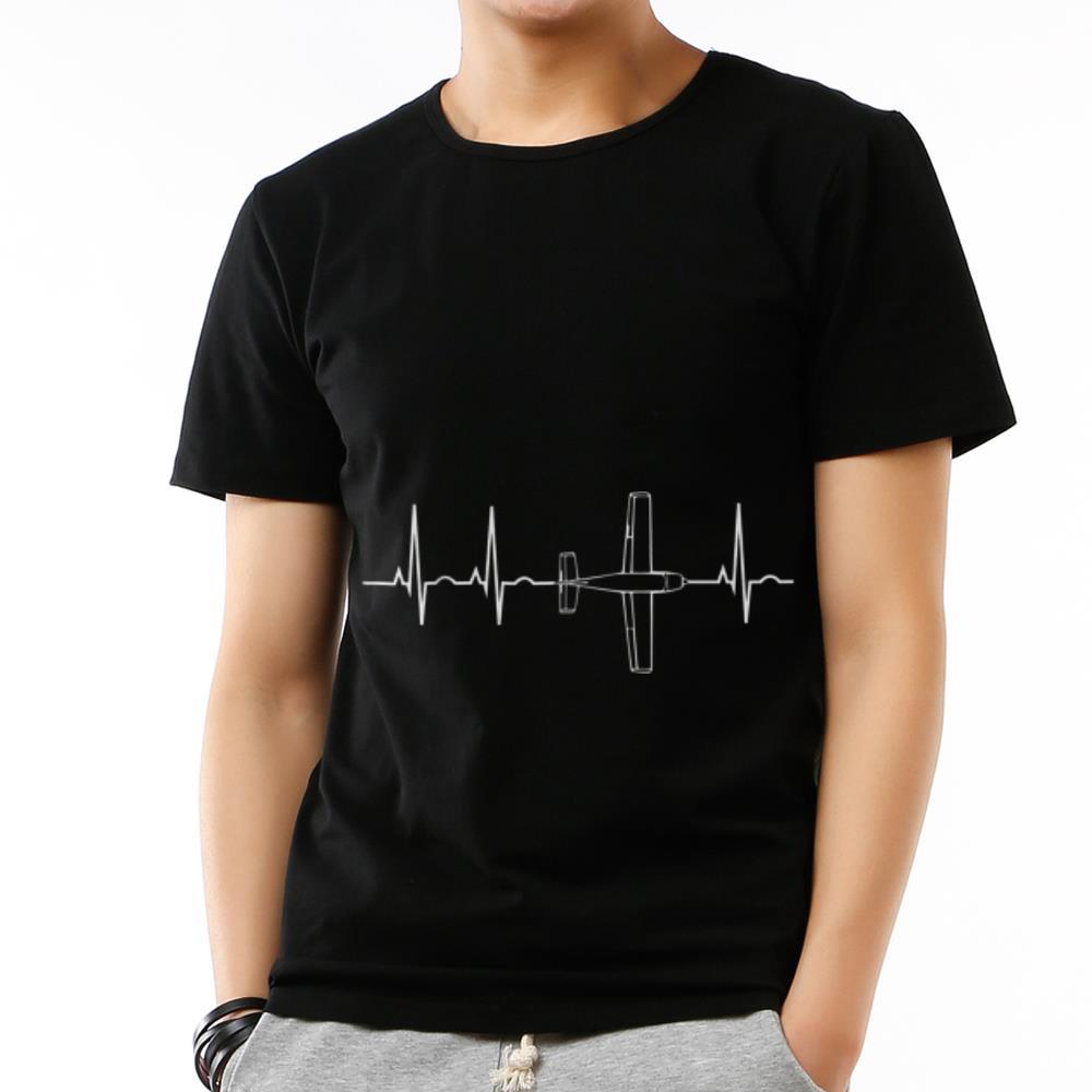 Original Airplane Flying Pilot Heartbeat shirt