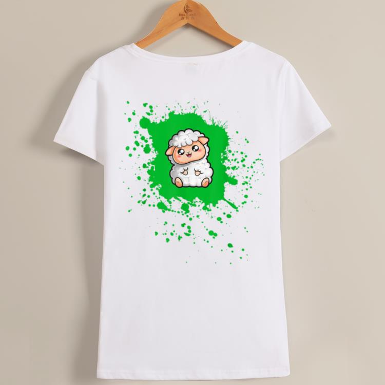 Original Cute And Woolly Sheep Kawaii Sheep Ink Splash shirt