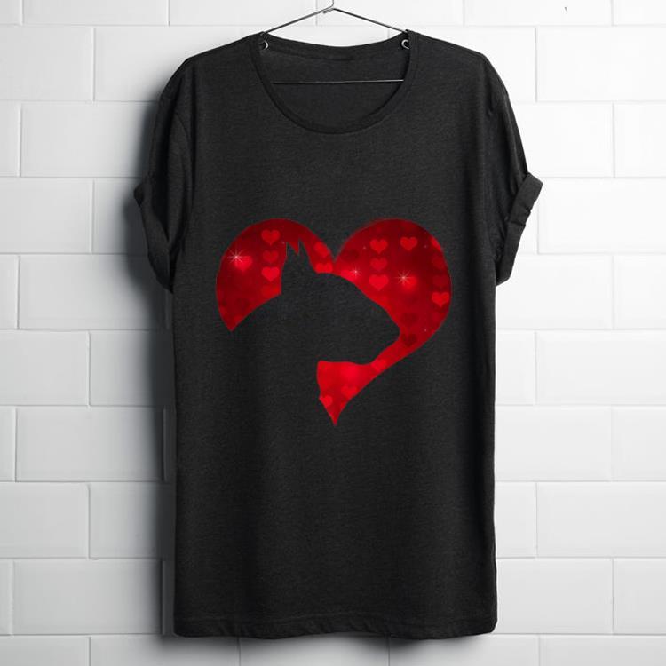 Original I Love My English Bull Terrier Dog Romantic Heart Dog Lover shirt