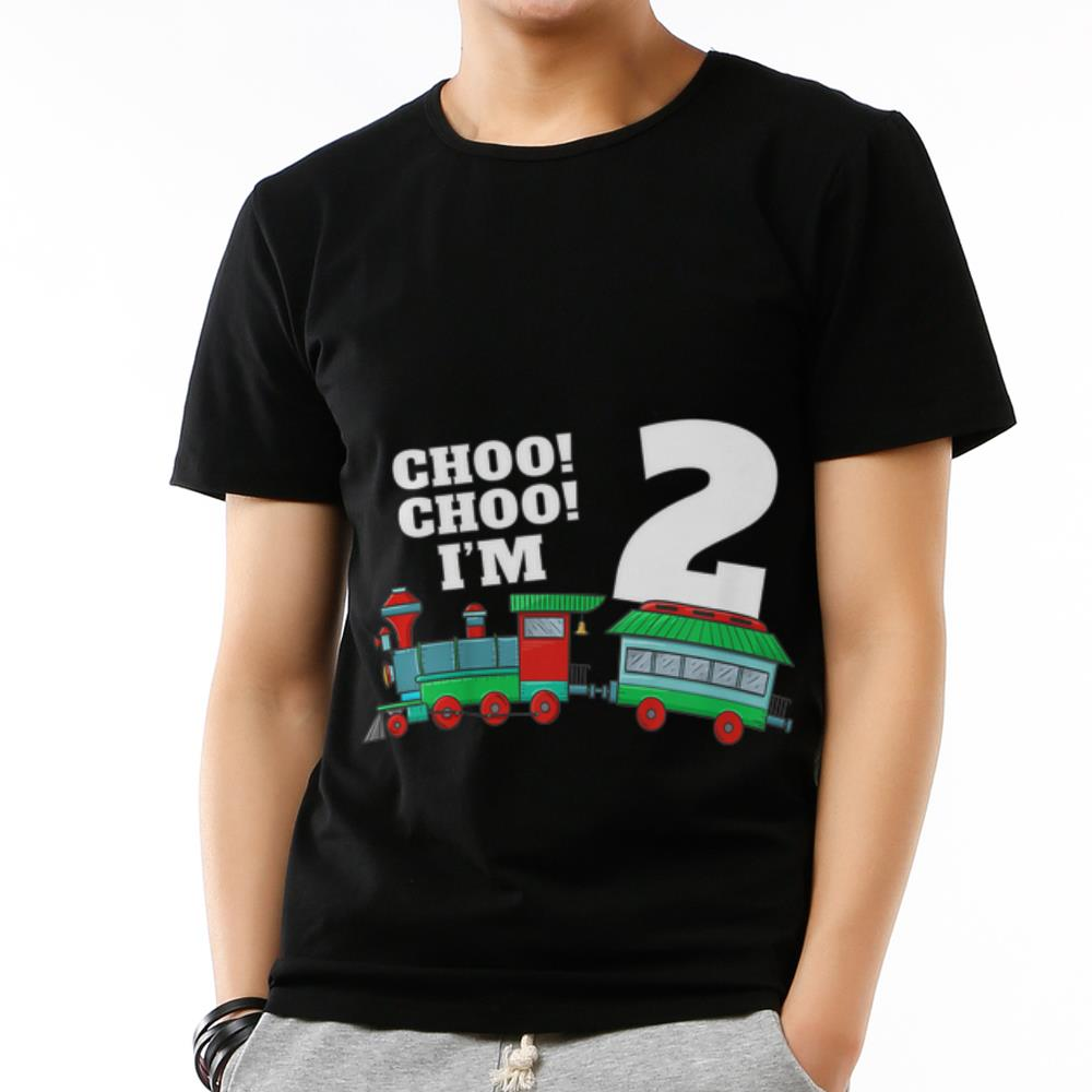 Original I'm Two Train 2nd Birthday shirt