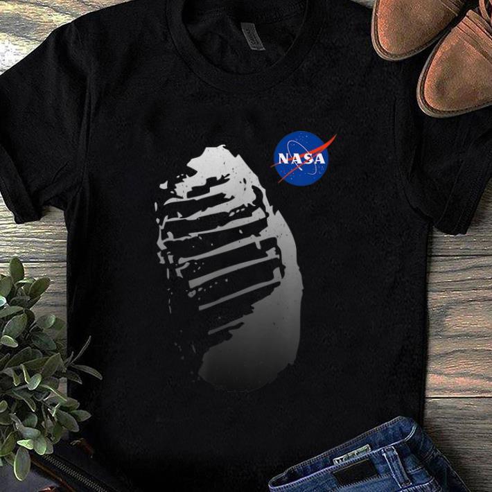 Original Moon Boot Print Vintage NASA Approved Apollo 11 50th shirt