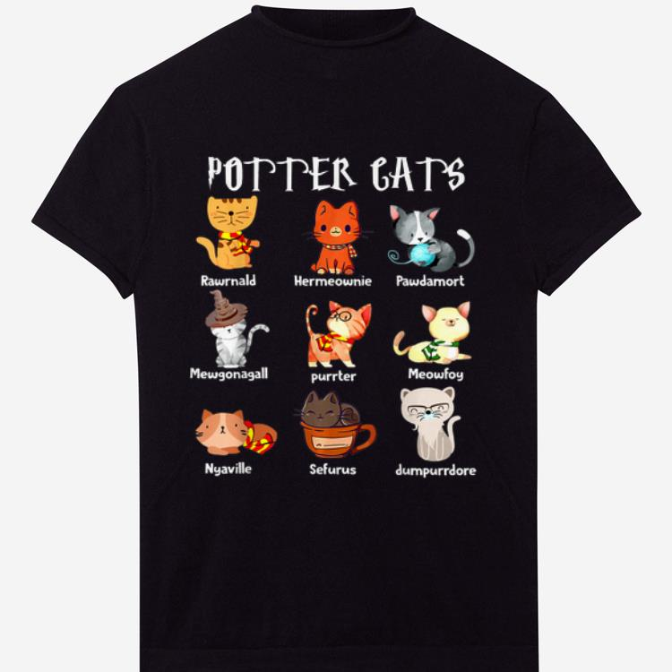Original Purrter Cats Cute Harry Potter And Cats Pawter Meowfoy Dumpurrdore Pawdamort shirt