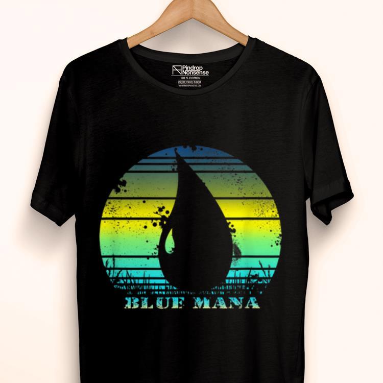 Original Vintage Gathering Of Magic Blue Mana 80s Game RPG shirt