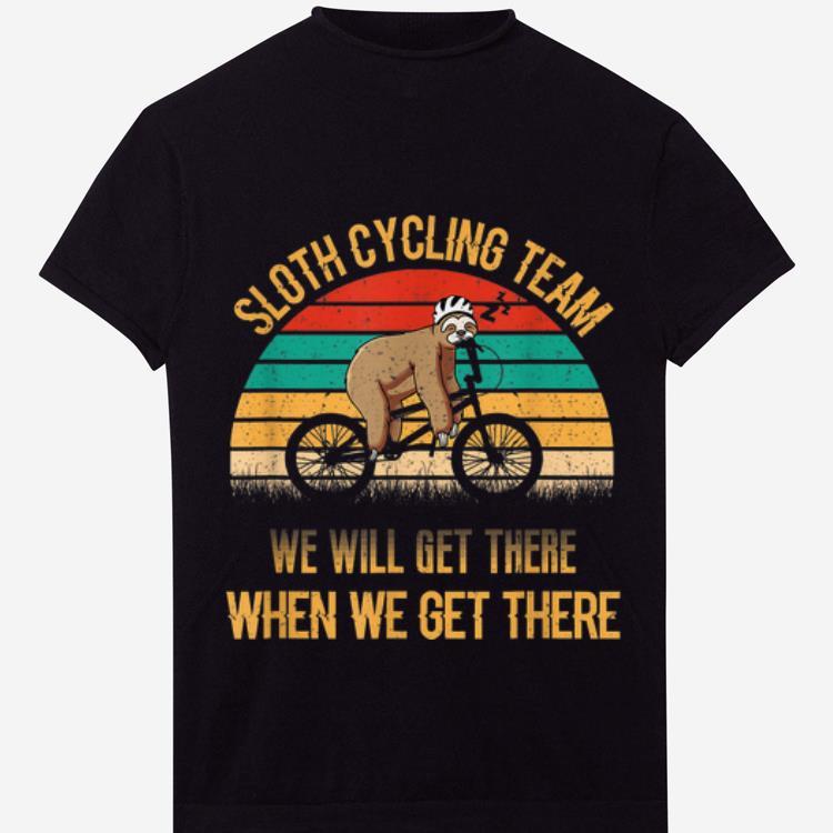 Original Vintage Sunset Sloth Cycling Team We Will Get There shirt 1 - Original Vintage Sunset Sloth Cycling Team We Will Get There shirt