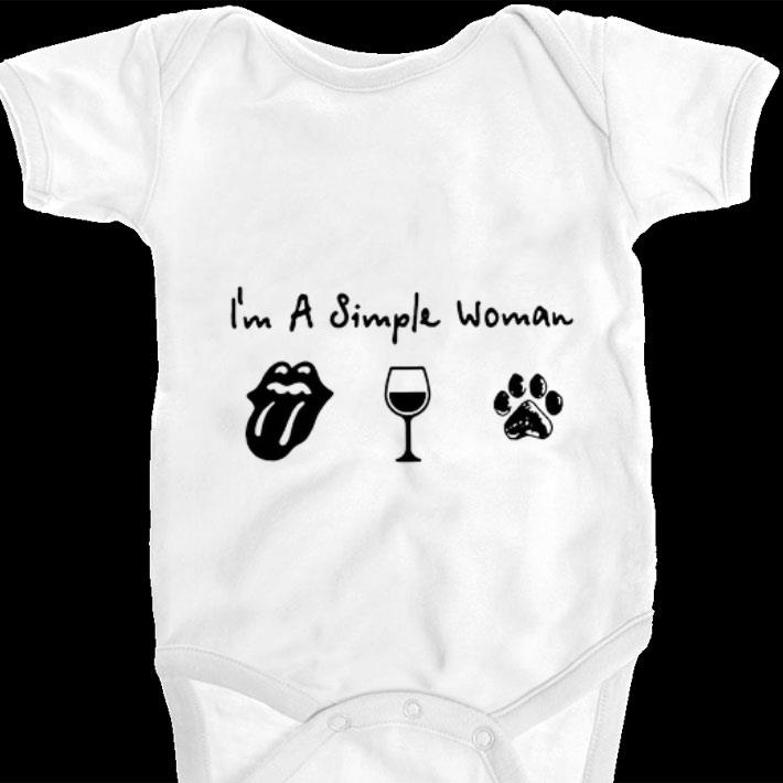 Premium I'm a simple woman The Rolling Stones wine dog paw shirt