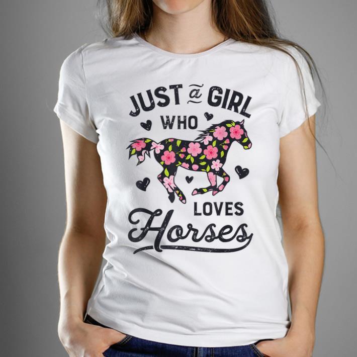 Premium Just A Girl Who Loves Horses Horseback Riding Horse Lover shirt