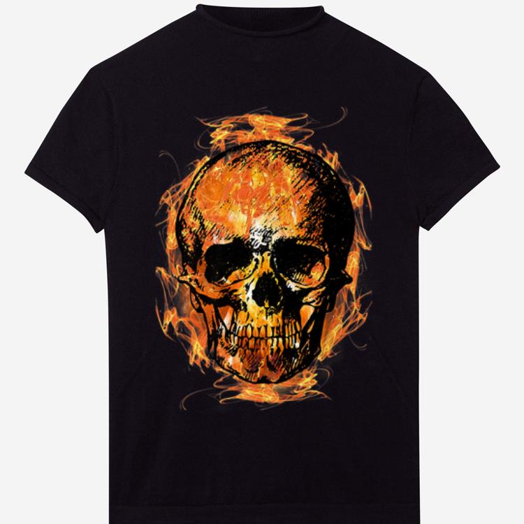 Premium Skull Head Fiery Novelty Fire Skull Flaming shirt