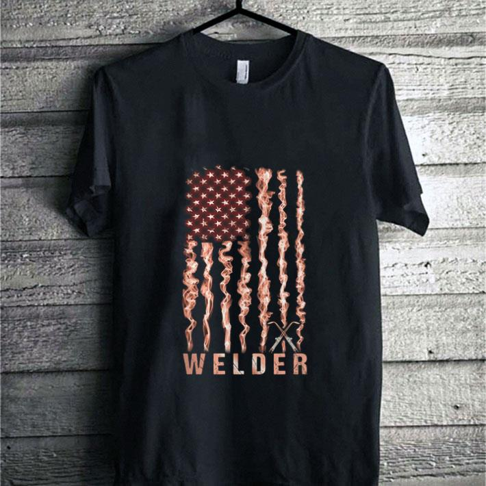 Pretty American flag Welder shirt