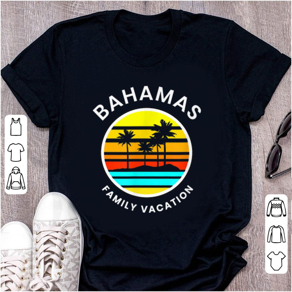 Pretty Bahamas Family Vacation Sunset Palm Trees shirt