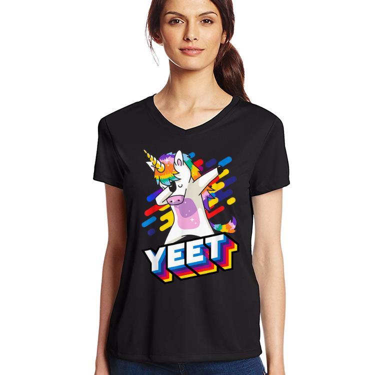 Pretty Celebration Yeet Colorful Dabbing Dancing Unicorn shirt