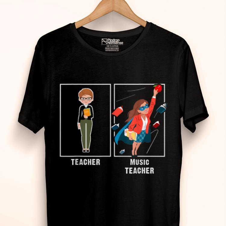 Pretty I Teach Super Heroes Music Lover Team Back To School shirt 1 - Pretty I Teach Super Heroes - Music Lover Team Back To School shirt