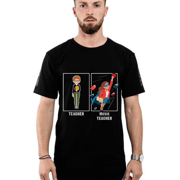 Pretty I Teach Super Heroes - Music Lover Team Back To School shirt