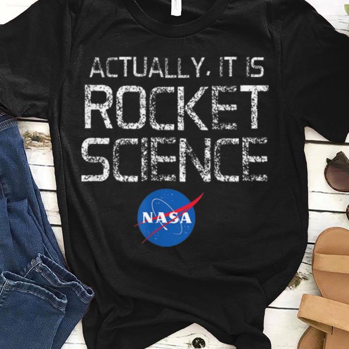 Pretty NASA Actually It Is Rocket Science 50th Anniversary Moon Landing shirt