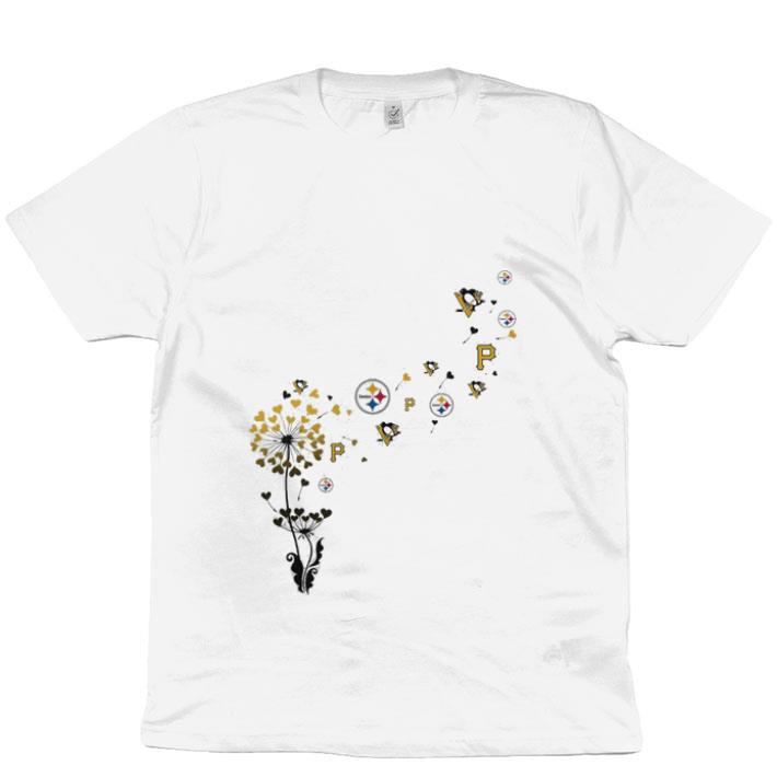 Pretty Pittsburgh Steeler Pittsburgh Pirates Pittsburgh Penguins dandelion shirt