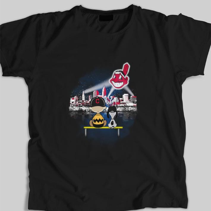 Pretty Snoopy and Charlie Brown Cleveland Indians shirt
