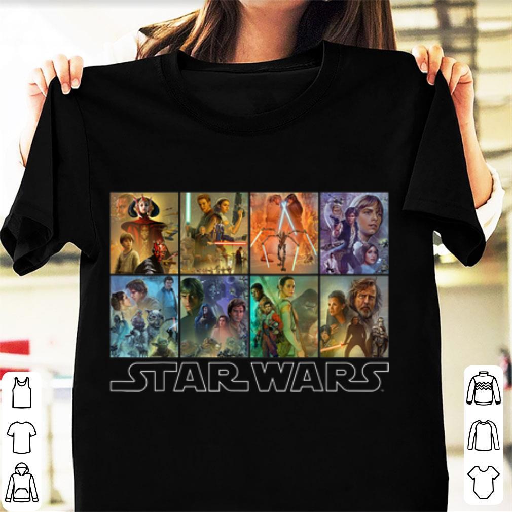 Pretty Star Wars Celebration Mural Trilogy Panels shirt