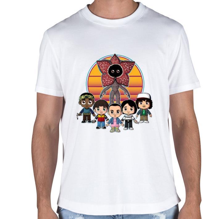 Pretty Stranger Things Demogorgon and characters chibi shirt