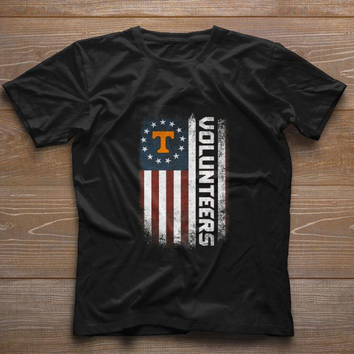 Pretty Tennessee Volunteers Betsy Ross flag shirt