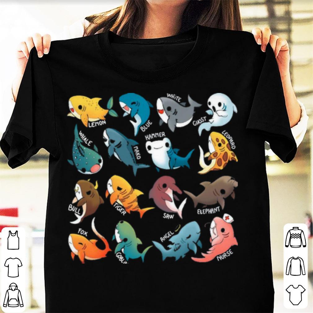 Pretty Type Of Sharks Funny Shark shirt