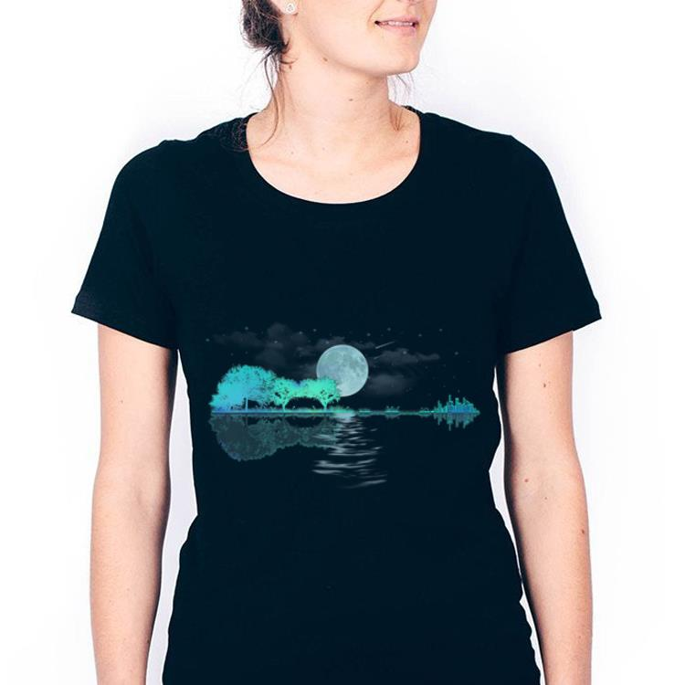 Top Acoustic Guitar City Moon Forest Look Throught The Water shirt
