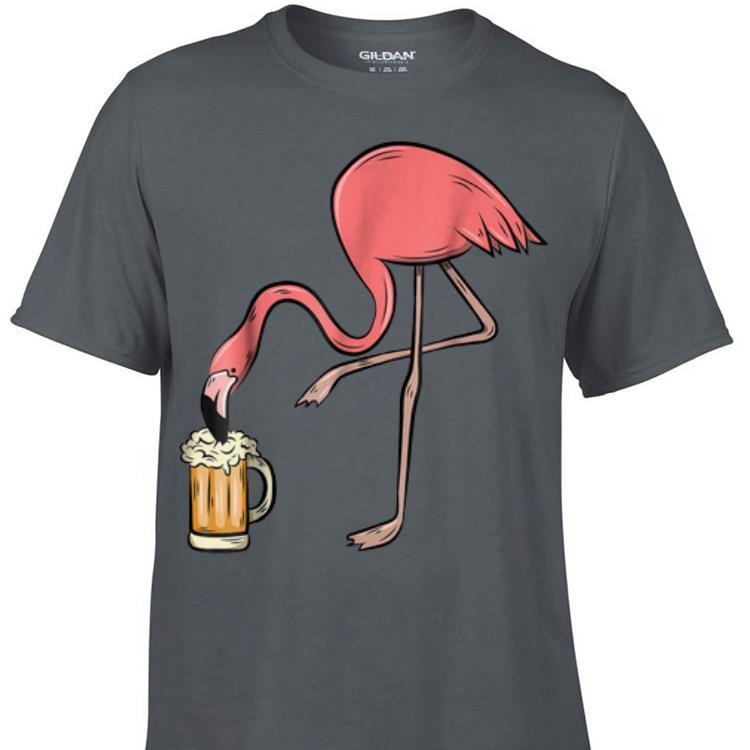 Top Flamingo Drinking Beer shirt