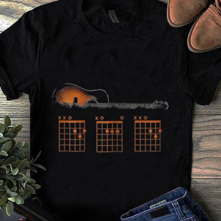 Top Mens Guitar Chord Dad Rhythm shirt