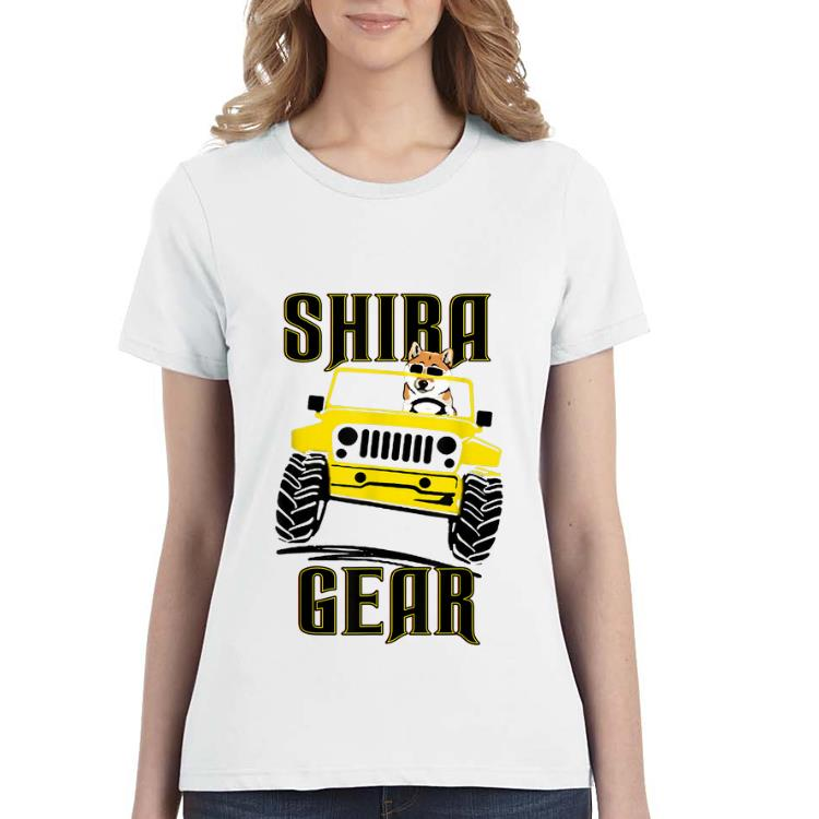 Top Shiba Inu Gear Driving Dog Jeep shirt