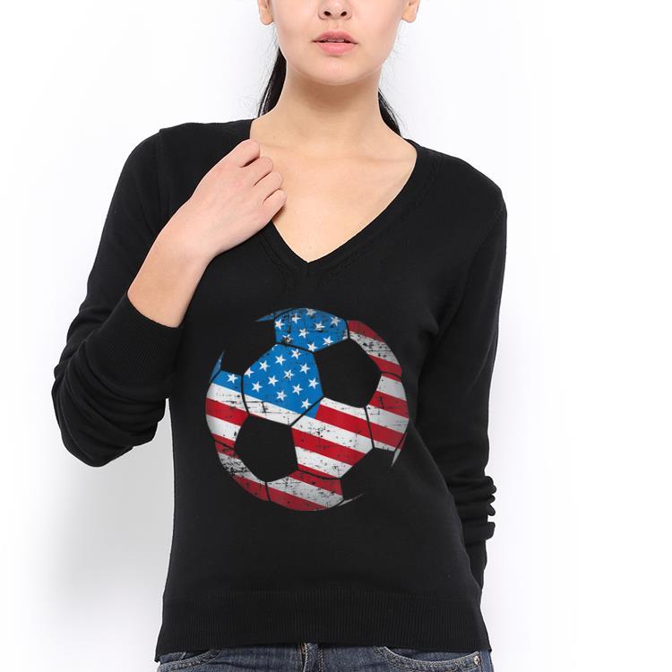 Top Soccer Ball American Flag shirt