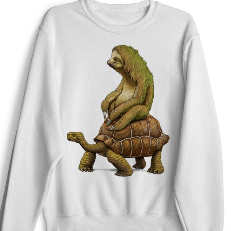 Top Speed is Relative Sloth And Turtle Moving Slowly shirt 1 - Top Speed is Relative Sloth And Turtle Moving Slowly shirt