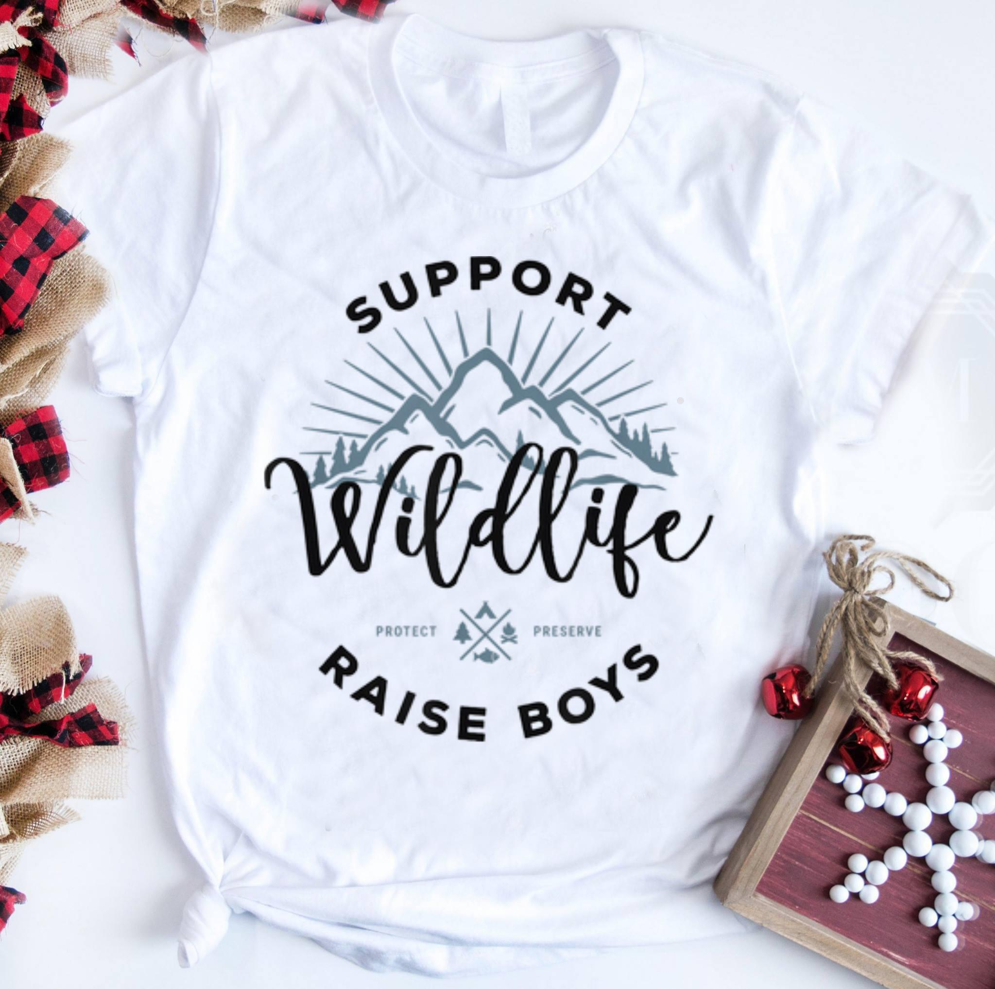 Top Support Wildlife Raise boys shirt