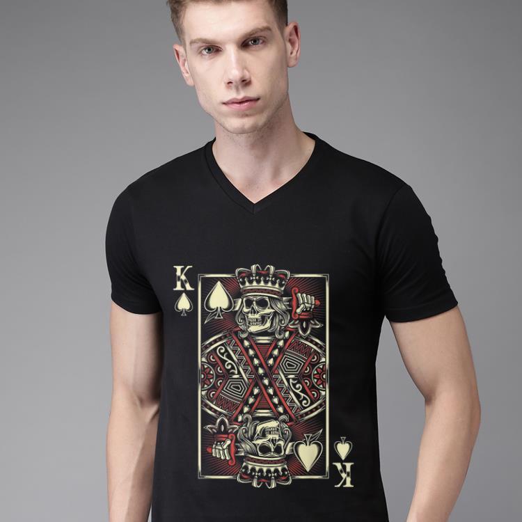 Top The King of Hearts Playing Card Skull shirt