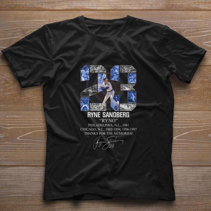 23 Ryne Sandberg Ryno Thanks For The Memories Signature Shirt 1 1.jpg