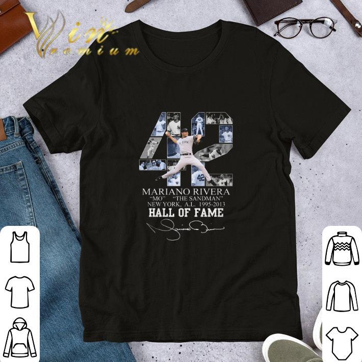 42 Mariano Rivera Mo The Sandman New York 1995 2013 Hall Of Fame Shirt 1 1.jpg
