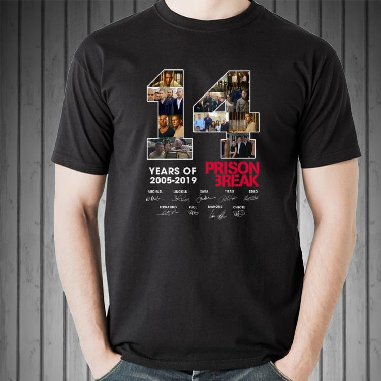 Awesome 14 Years Of Prison Break 2005 2019 signature shirt