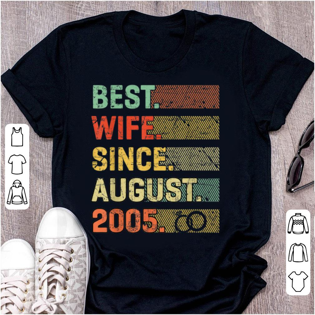Awesome 14th Wedding Anniversary Best Wife Since August 2005 shirt