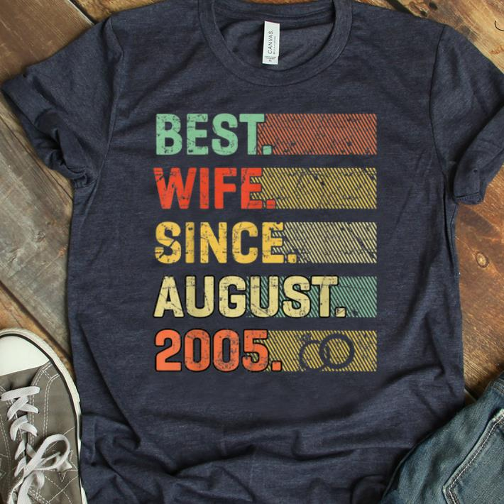 Awesome 14th Wedding Anniversary Best Wife Since August 2005 shirt 1 - Awesome 14th Wedding Anniversary Best Wife Since August 2005 shirt