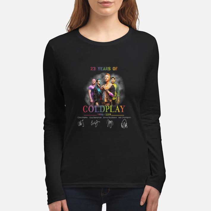 Awesome 23 years of Coldplay 1996-2019 signatures shirt