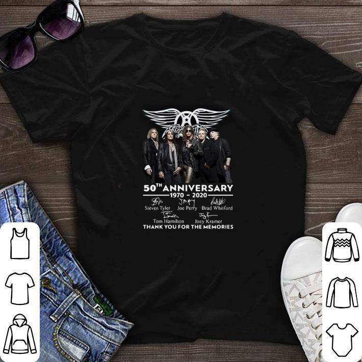 Awesome Aerosmith 50th anniversary 1970-2020 thank you for the memories shirt