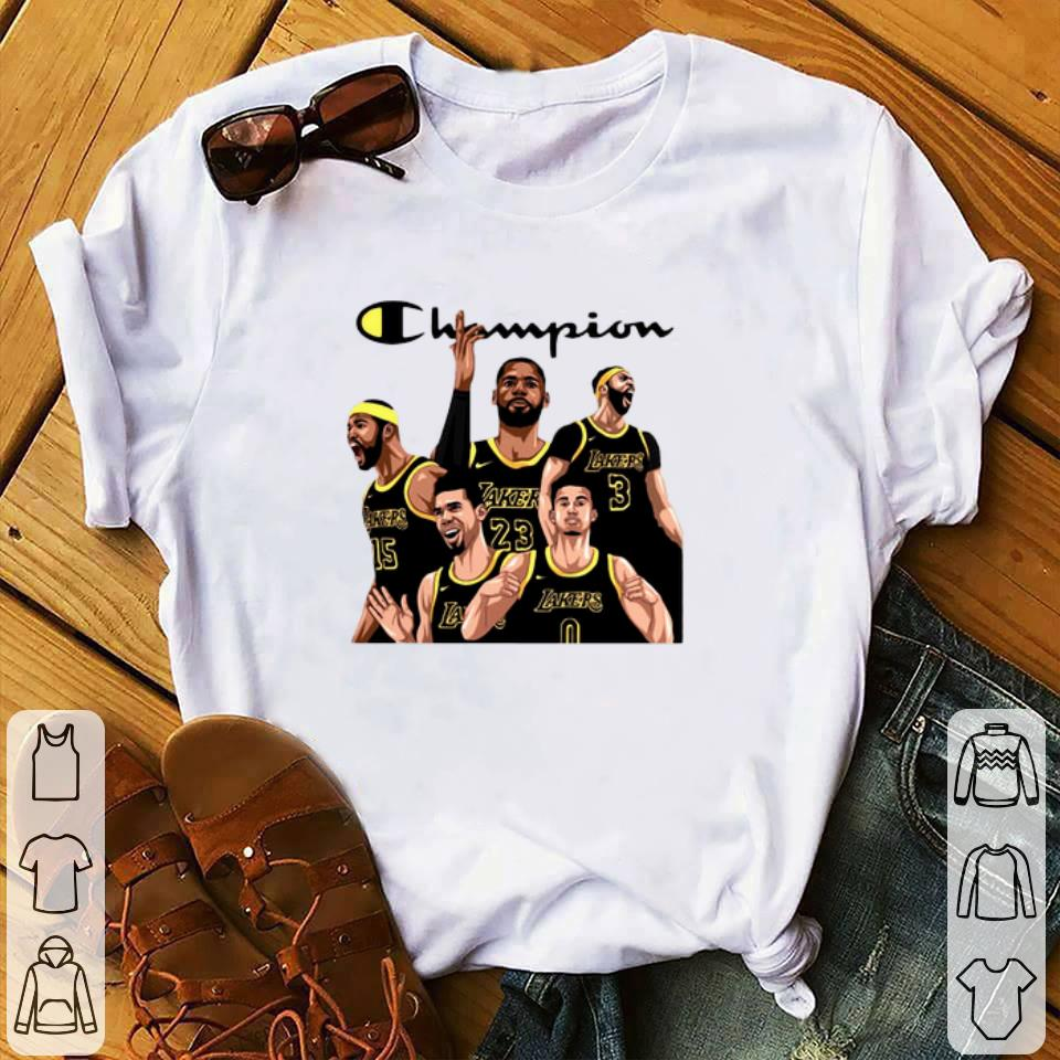 Awesome Champion Squad Los Angeles Lakers shirt