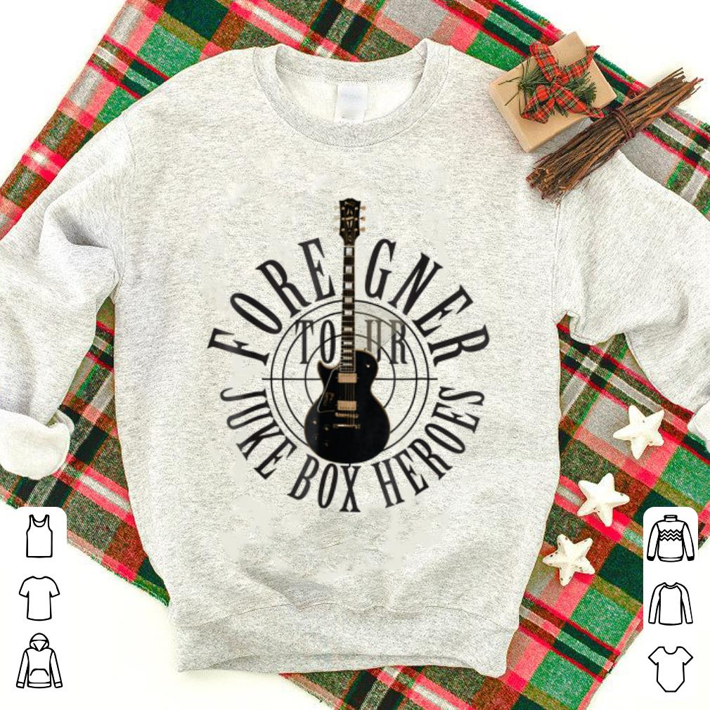 Awesome Foreigner Juke Box Heroes Electric Guitar shirt 1 - Awesome Foreigner Juke Box Heroes Electric Guitar shirt