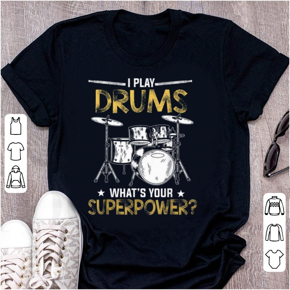 Awesome I Play Drums Funny Drummer Drum Lover shirt