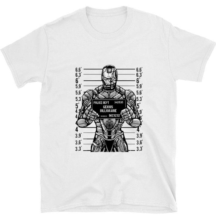 Awesome Iron man police dept genius billionaire shirt