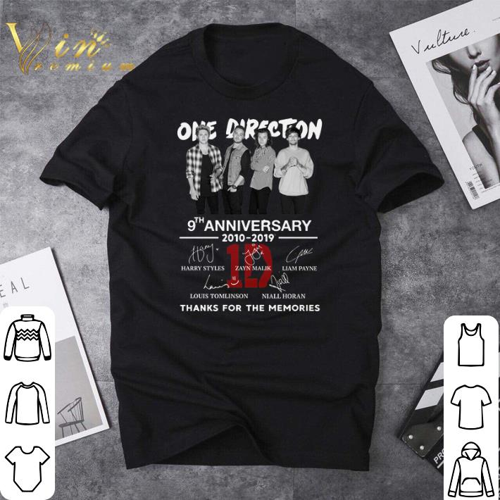 Awesome One Direction 9th anniversary 2010-2019 thanks for the memories shirt